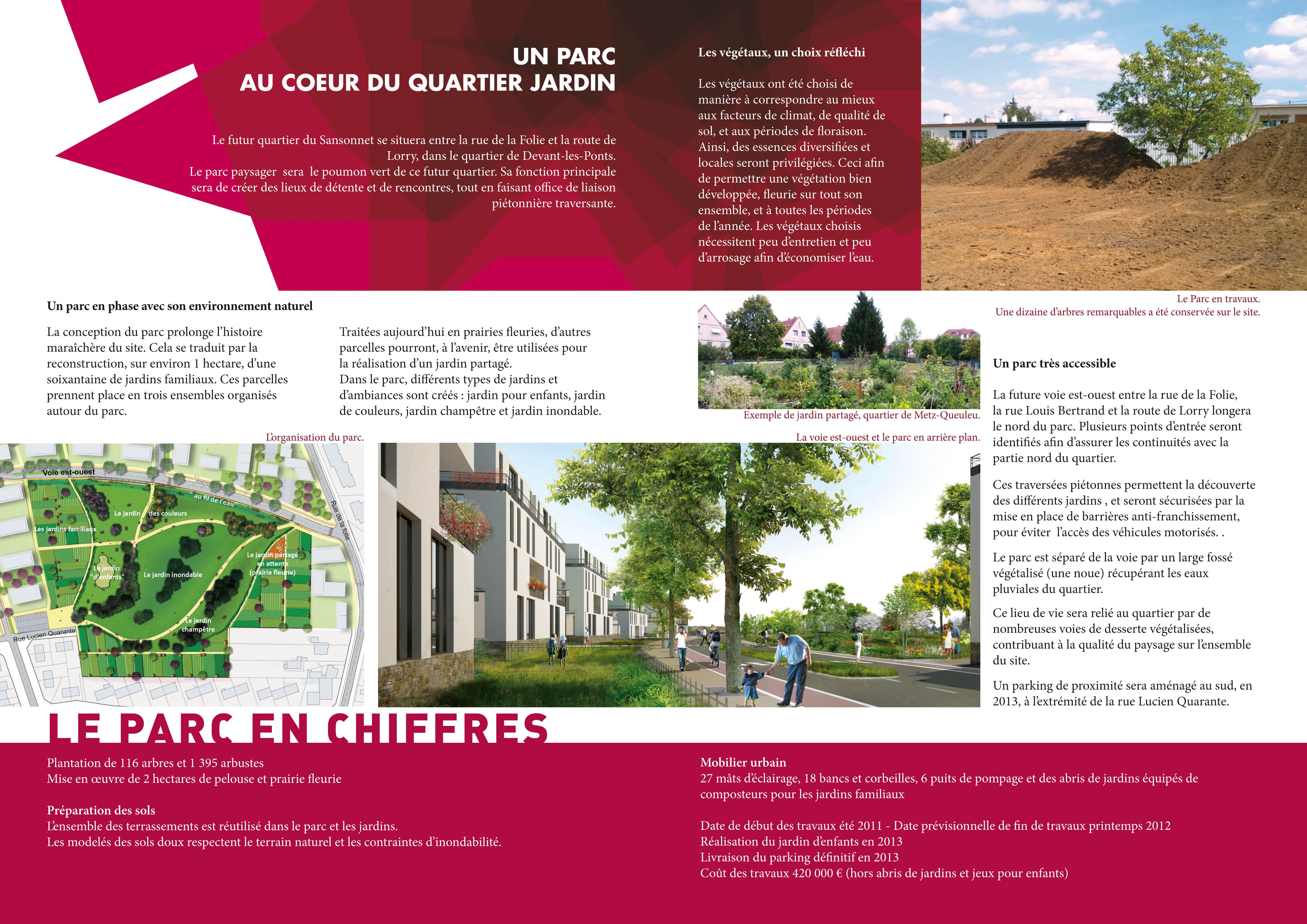 La ville de metz pr sente le parc paysager du quartier du for Projet architecture pdf