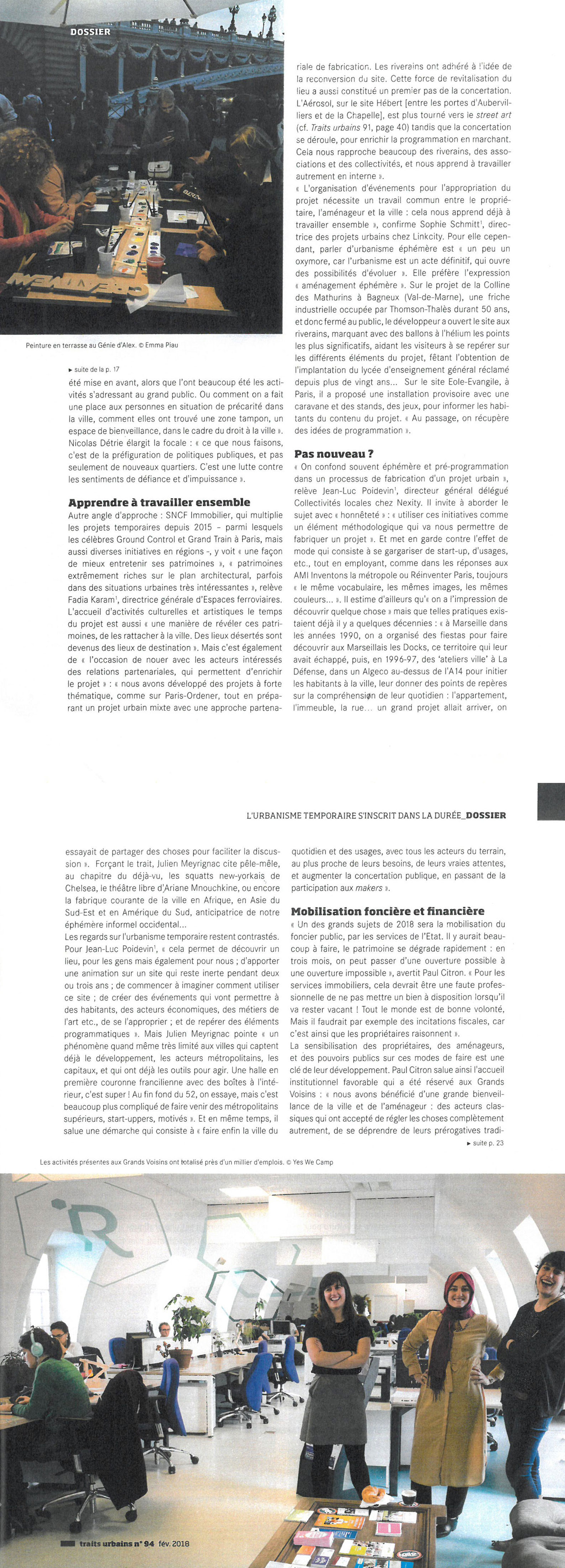 magazine Trait Urbain - février 2018